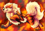 Arcanine - Paint experiment by UKthewhitewolf