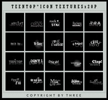 Teen Top-Icon Textures 20P by 27three