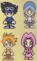Needlepoint Digimon Tamers by missy-tannenbaum