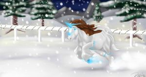 Winter Event Liberty with Ben by DragonsFlameMagic