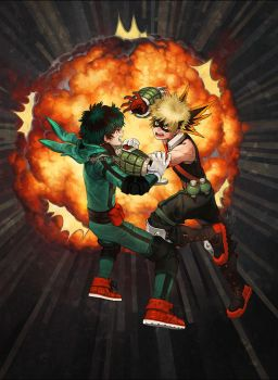 ..::Midoriya vs Bakugou::.. by Megan-Uosiu