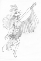 Prefomance of the Song Bird by TurtleChix