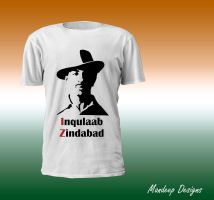 Saheed Bhagat Singh T-Shirt Design by Mandeep2u