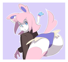ART TRADE - Sylveon girl by pc-engine