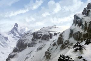 Snowy Mountains by VidPen