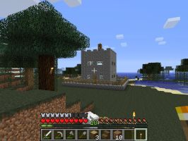 minecraft screenshots fortified house 2 by falcon01