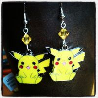 Pikachu Pokemon Geek Crystal Earrings by GeekStarCostuming