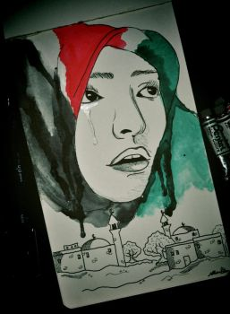 Palestinian Cry by manupaivaellon