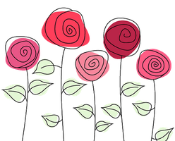5 Cute Roses PNG by HanaBell1