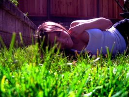 Laying in the Grass by AnonKilledMyZed