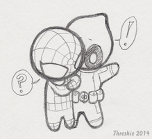 Spidey and Deadpool - C'mon by Threshie