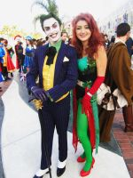 Poison Ivy and Joker Long Beach Comic Con 2012 by piratesavvy07