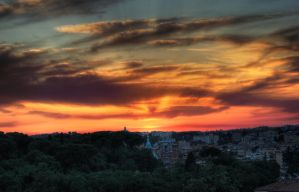 Sunset in Roma by uneven88