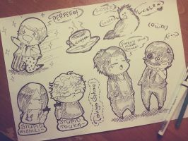 #Tokyo Ghoul. Chibisketches. by Matthew-Ray
