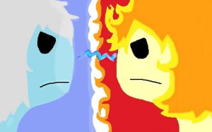 Ice Prince Vs. Rinn the Fire Prince by Cutediepie