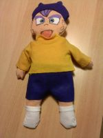 self-made baby trunks puppet by LadyLaui