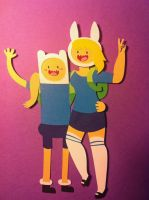 Adventure Time with Finn and Fionna Papercraft by jcsunshinee