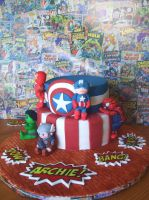 Avengers Cake by alexisfyre