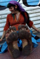 Gypsy girl dirty feet by GypsyBarefootCecilia