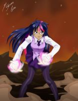 Twilight -  Alicorn Power - Color by Shinta-Girl