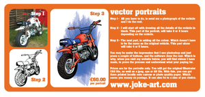 JokeArt DL Leaflet Back by flatfourdesign