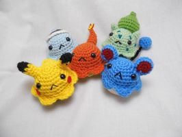 Pokemon Amigurumi Cupcakes by love-your-spleen
