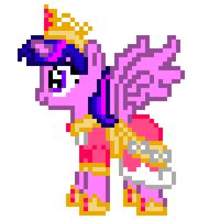 8-bit Alicorn Twilight Sprite by ladypixelheart