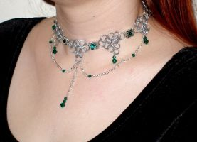 Emerald Drape Choker - view 2 by whitefantom