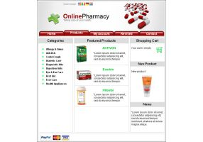 Pharmacy web template by Player-Designer