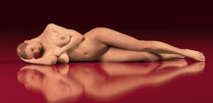 Reclining nude by Poserreality3