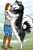 Malamute says hi commission for peetapoo by haymakers