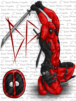 Deadpool T-shirt by I3-byUsagi