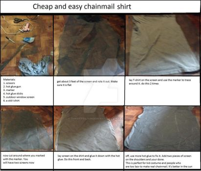 Cheap and Easy Chainmail Shirt Tutorial. by TheReptilianGeneral