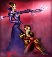 Arena 2's - Blood Elves by KrisCooper