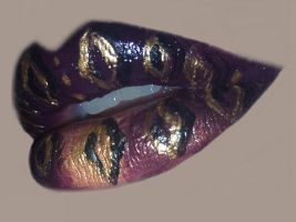 Ghirahim inspired lip art by amanda04