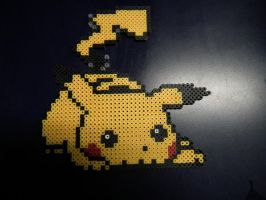 Large Pikachu Perler by blargofdoom