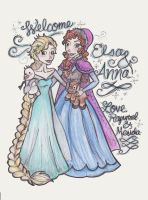 Welcome Anna and Elsa by mox-ie