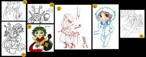 Persona 4 tumblr doodles by roseannepage