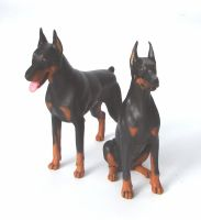 Doberman Dog Figurines by Kesa-Godzen