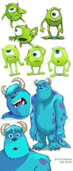 Mike and Sulley by lazesummerstone