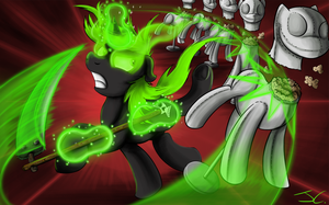 Fanart - MLP. Radioactive Training by jamescorck
