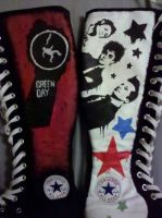 New Green Day Converse-Side 2 by SweeneyxLovett4ever
