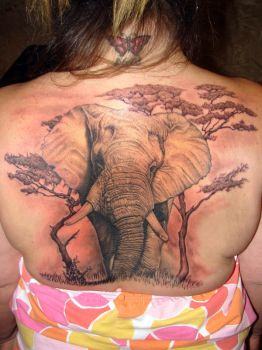 elephant tattoo finished by asussman