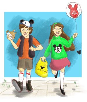Disneyland Twins by animegirl43
