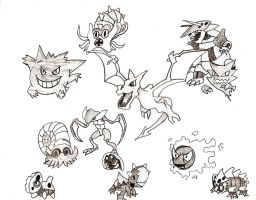 Fossil Pokemon by 1Rootbeer