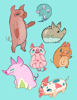 More Pigs!! by geckoZen