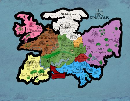 Map of the Nine Kingdoms by sicknpsyko