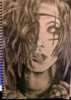 Andy Biersack drawing by falakalak