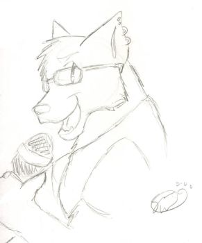 Sketchy.. anthro wolf. O_o by JustifiedFaith