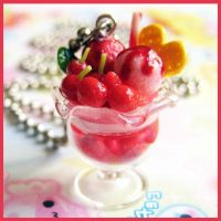 Cherry Ice Cream Necklace by cherryboop